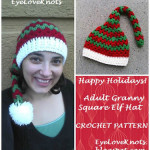 Adult Granny Square Elf Hat by EyeLoveKnots