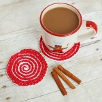 Peppermint Swirl Coaster by Petals to Picots