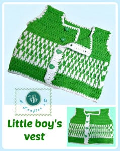 Little Boys Vest by Maz Kwok's Designs