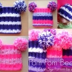 Child Size Pom Pom Beanie by Stitch11