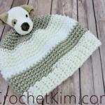 Puppy Topper Beanie by Kim Guzman of CrochetKim
