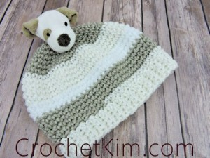 Puppy Topper Beanie by Kim Guzman of CrochetKim