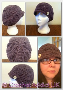 Woman's Newsboy Slouchy by Crochet Addict