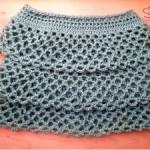 Ruffle Crochet Skirt by Corina Gray for AllFreeCrochet