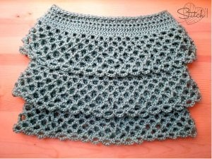 Ruffle Crochet Skirt by Corina Gray for AllFreeCrochet