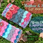 Shell and Button Ear Warmer by Stitch11