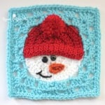 Snowman Square by Repeat Crafter Me