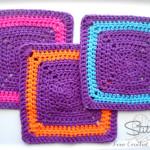 Stitch11 Square Crochet Washcloth by Stitch11