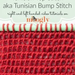 Tunisian Top Stitch/Tunisian Bump Stitch by Moogly