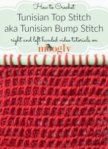 Tunisian Top Stitch/Tunisian Bump Stitch by Moogly