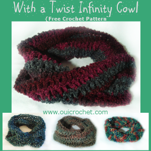 With a Twist Infinity Cowl by Oui Crochet