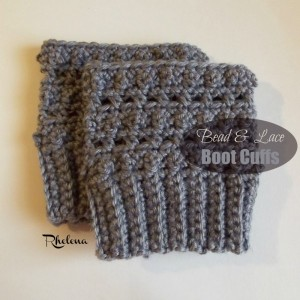 Bead and Lace Boot Cuffs by Rhelena of CrochetN'Crafts