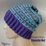 Beaded Stripes Slouchy Hat by Rhelena of CrochetN'Crafts