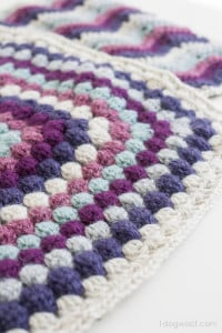 Bobble Stitch Afghan Square by One Dog Woof