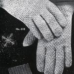 Men's Afghan Stitch Gloves by Free Vintage Crochet