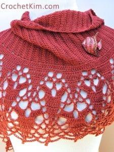 Cinnamon Fling Wrap by Kim Guzman of CrochetKim