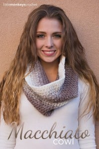 Macchiato Cowl by Rebecca Langford of Little Monkeys Crochet