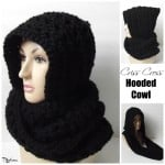 Criss Cross Hooded Cowl by Rhelena of CrochetN'Crafts