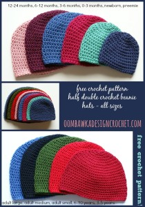 Half Double Crochet Hat by Oombawka Design