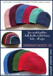 Half Double Crochet Hat by Oombawka Design