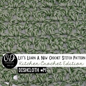 Sultan Stitch Square Dishcloth by Oombawka Design