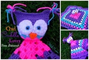 Owl Cuddle Lovey by Stitch11