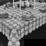 Lucky Star Tablecloth by Free Vintage Crochet
