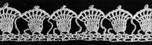 Christmas Bells Edging by Free Vintage Crochet