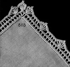 Chequers Edging #8113 by Free Vintage Crochet