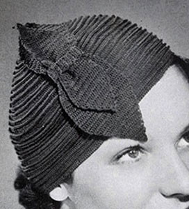 Ridge Round Hat by Free Vintage Crochet