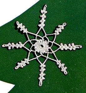 Snowflake Ornament by Free Vintage Crochet