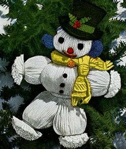 Snowman Ornament by Free Vintage Crochet