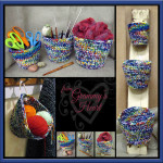 A Trio of Colorful Baskets by Designs from Grammy's Heart, with Love
