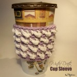 Winter Drifts Cup Sleeve by Rhelena of CrochetN'Crafts