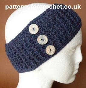 Ear Warmer Headband by Patterns For Crochet