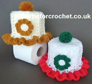 Frilled Toilet Roll Cover Free Crochet Pattern