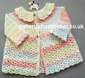 Matinee Coat with Collar by Patterns For Crochet