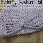 Butterfly Newborn Hat by Cream Of The Crop Crochet