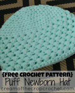 Puff Newborn Hat by Cream Of The Crop Crochet