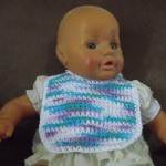 Side Strap Baby Bib by Barb's Free Crochet Patterns