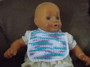 Side Strap Baby Bib by Barb's Free Crochet Patterns