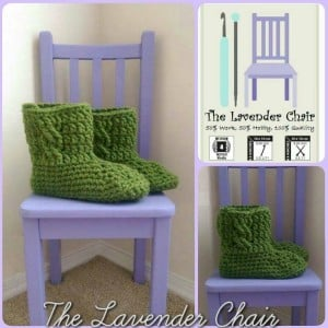 Chunky Cabled Slipper Boots by Dorianna Rivelli of The Lavender Chair