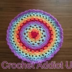 International Rainbow Mandala by Crochet Addict
