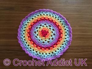 International Rainbow Mandala by Crochet Addict