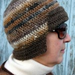 Mini Bomber Hat by ABC Knitting Patterns