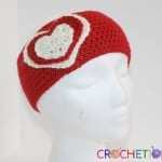 Valentine Headband by Shelly Brown of Crochetions