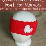 Heart Ear Warmers by Cream Of The Crop Crochet