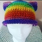 Rainbow Kitten Hat by Nicole Cormier/Tunisian Crochet Chick