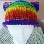 Rainbow Kitten Hat by Nicole Cormier/Tunisian Crochet Chick