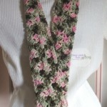 Rose Camo Skinny Scarf by Home Made Hats by Cheryl